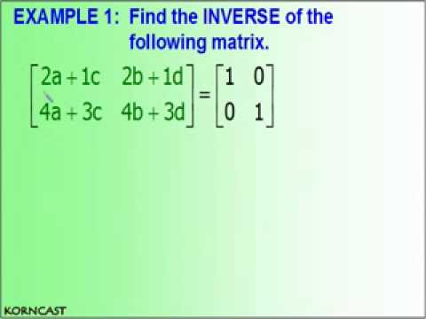 The Inverse Matrix KORNCAST