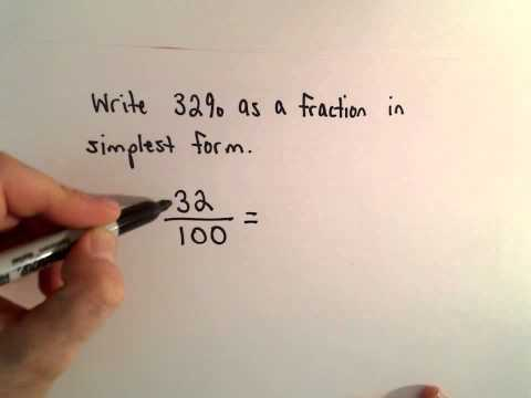 Writing a Percent as a Fraction in Reduced Form
