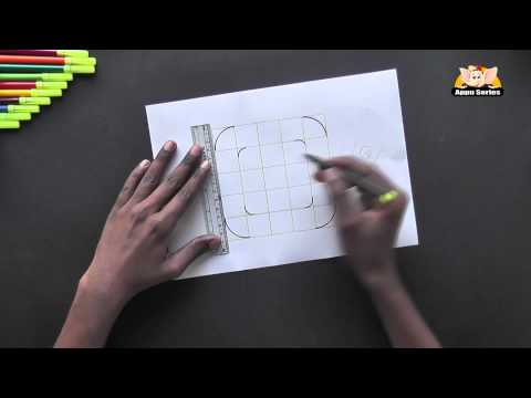 Write Block Style Alphabet 'Q'  - Arts & Crafts