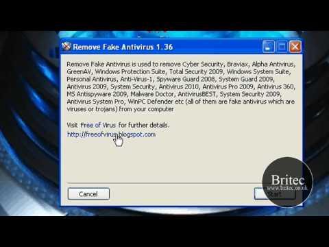 Remove Fake Antivirus Software Programs by Britec
