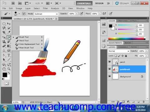 Photoshop CS5 Tutorial Painting Tools Adobe Training Lesson 5.1