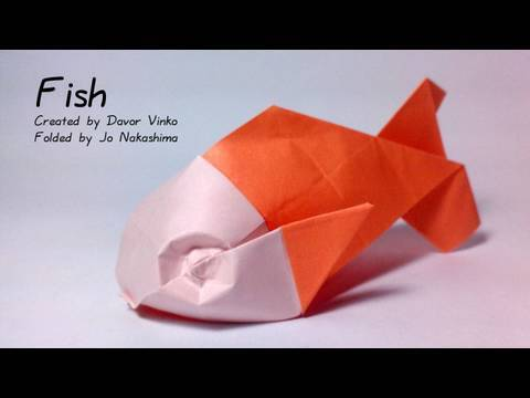 Origami Fish (Davor Vinko) - not a tutorial (showing the color-change)