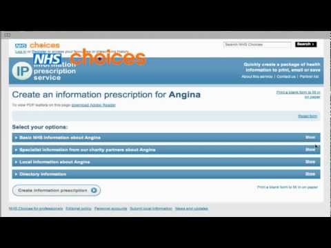 Uploading content to the Information Prescription Service