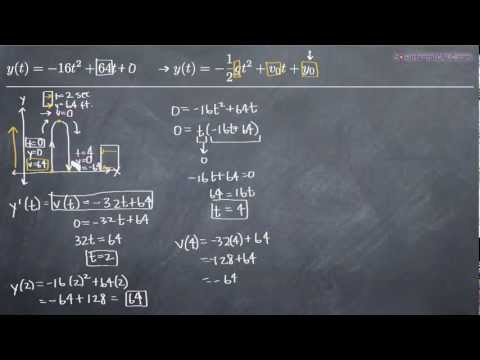 Vertical Motion (differentiation) Example 2