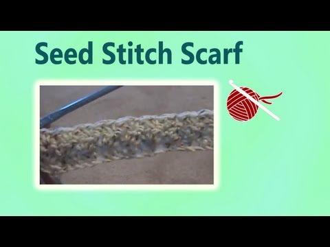 The Art of Crochet by Teresa - Crochet Seed Stitch Scarf
