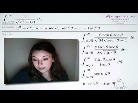 Trigonometric Substitution Example 8
