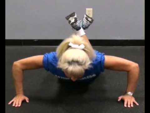 Push-Ups Modified Front : BeYourTrainer.com