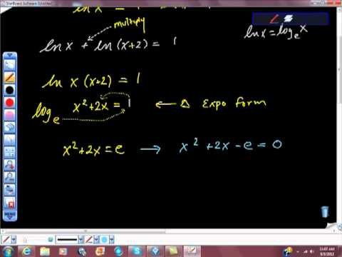 Solving a Logarithmic Function lnx