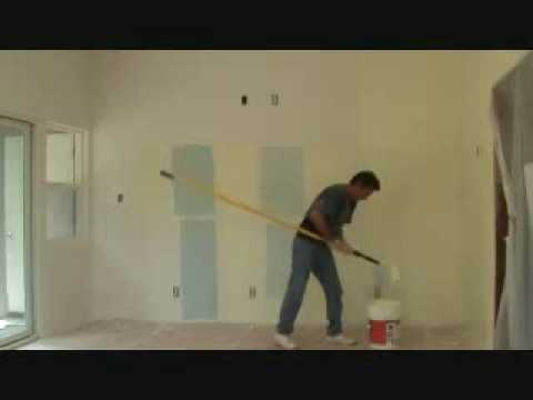 Painting a wall: using a long extension pole