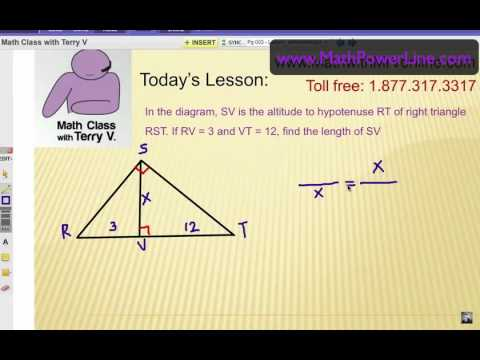Viewer Challenge 3: How to Solve Right Triangle Altitude Problems
