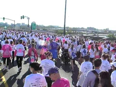 Race for the Cure:  View East and West on Colfax Avenue