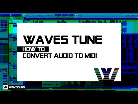 Waves Tune: How To Convert Audio to MIDI | WinkSound