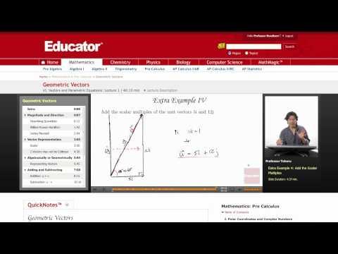 Pre-Calculus: Geometric Vectors