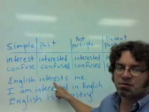 past and present participles