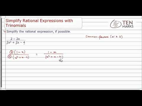 Simplify Rational Expressions with Trinomials