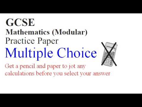 Practice Multiple Choice Higher