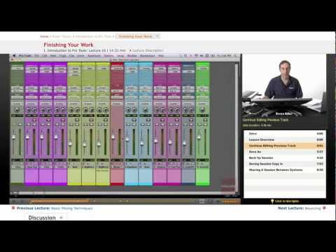 Pro Tools: Finishing Your Work