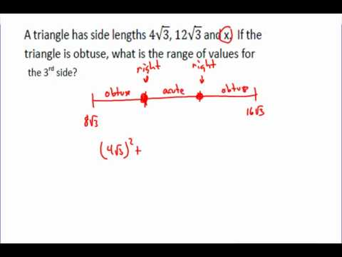 Sides of an Obtuse Triangle