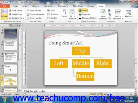 PowerPoint 2010 Tutorial Slide Show View Microsoft Training Lesson 3.4