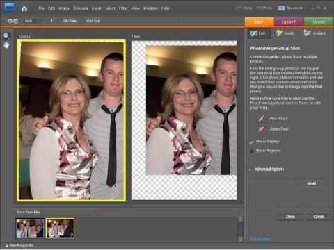 Photoshop Elements 7 Tutorial - Fixing group shots