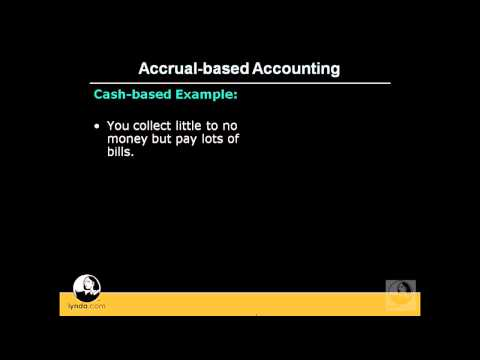 QuickBooks Pro: Differentiating accrual from cash-based accounting | lynda.com
