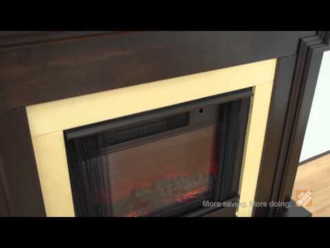 Real Flame Mt. Vernon Dark Walnut Electric Fireplace - The Home Depot
