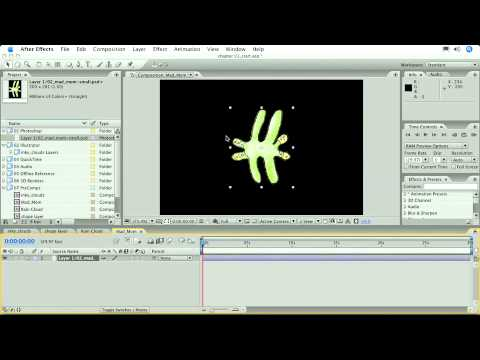Total Training for Adobe After Effects CS3 Essentials Ch1 L5 Animating with the Puppet Tool