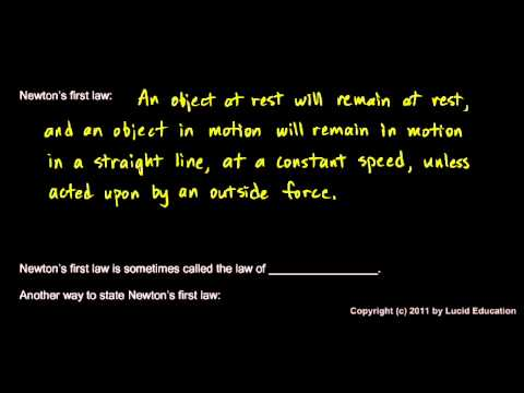 Physical Science 2.2k - Newton`s First Law