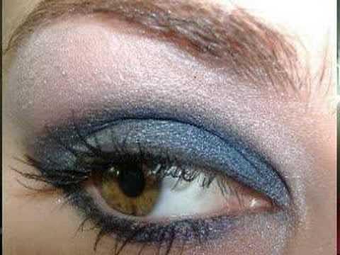 SEXY PROM EYES w/ MAC black silver & blues