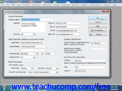 QuickBooks 2011 Tutorial The Payroll Process Intuit Training Lesson 20.1