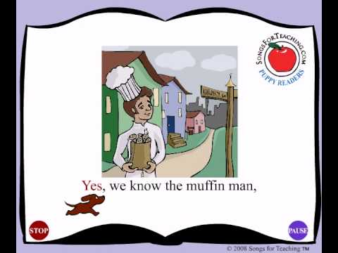 The Muffin Man:  Animated Nursery Rhyme for Children