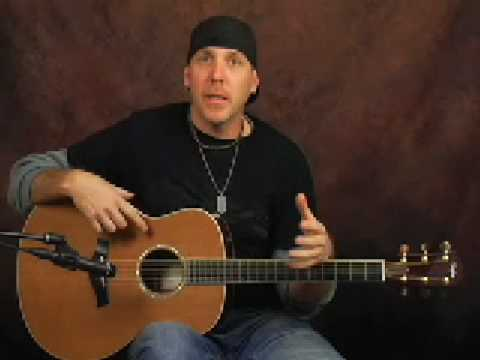 Taylor GS5 learn acoustic electric guitars demo lesson part2