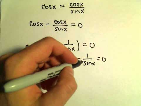 Solving a Trigonometric Equation by Factoring, Example 3