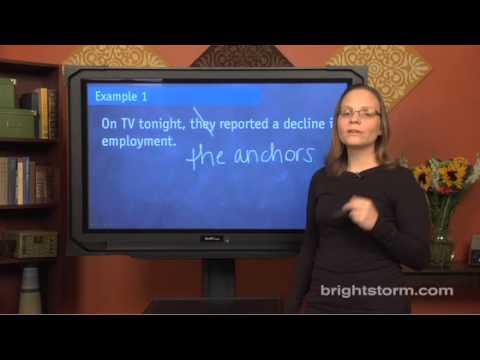 SAT Pronoun Reference, Part I