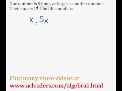 Word Problems (Algebra 1) - #5
