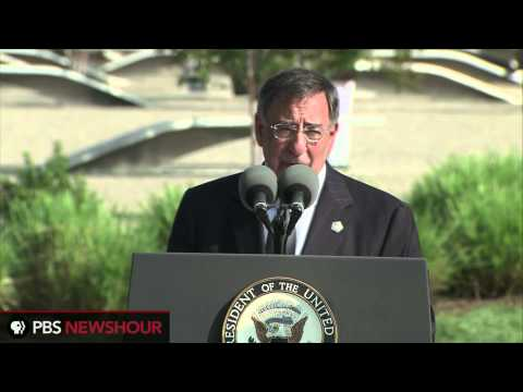 Secretary of Defense Leon Panetta Speaks at the 9/11 Ceremony at the Pentagon