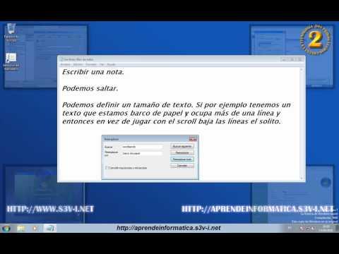 Windows 7 - Bloc de notas