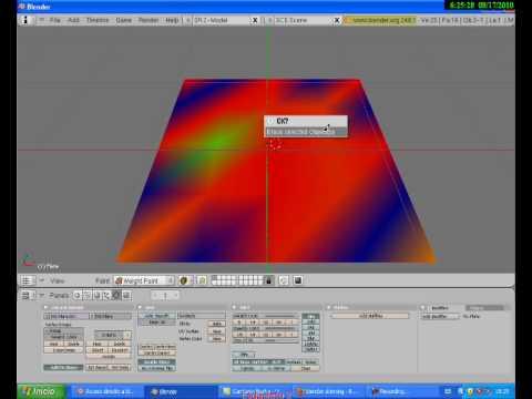 Tutorial Blender Skinning por Pintura de Peso - Weight Paint Skinning Blender Tutorial