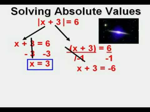 Solving Absolute Value Equations Part 1