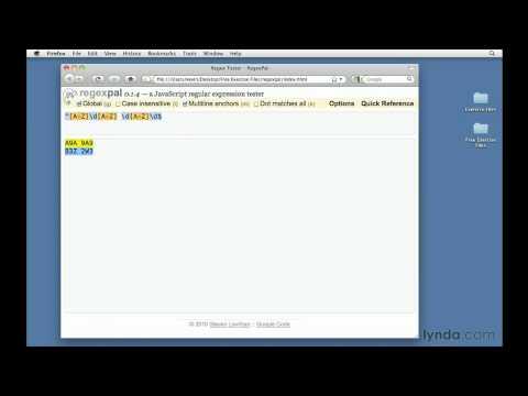 Regular Expressions: Matching postal codes | lynda.com