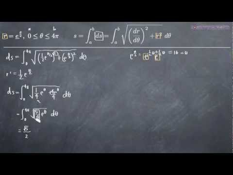Polar Parametric Curve - Arc Length Example 1