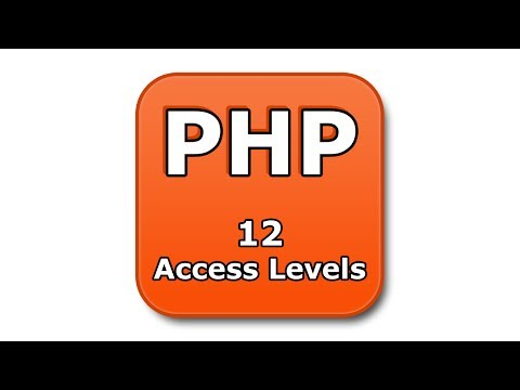 PHP Tutorial - 12 - Access Levels