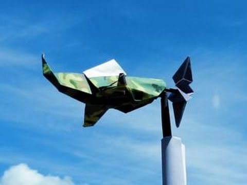 Origami Wind Vane: WORLD WAR II PLANE