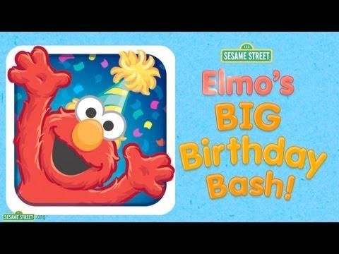 "Sesame Street: ""Elmo's Big Birthday Bash!"" App Preview"