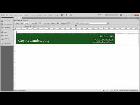 Setting up the page structure (1) - Coyote Landscaping - Part 4