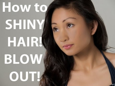✿ HOW TO SHINY HAIR WET TO DRY, FAST HAIR TUTORIAL ✿ AprilAthena7