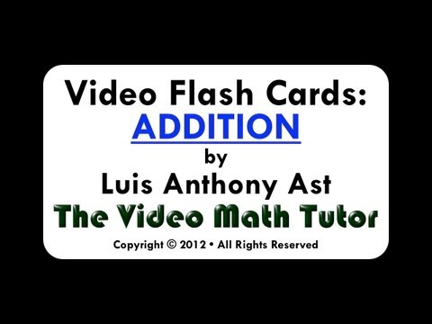 Video Flash Cards: Addition by 4