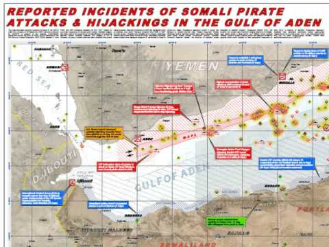 UNOSAT Maps Chronicle Somali Pirate Attacks in Gulf of Aden