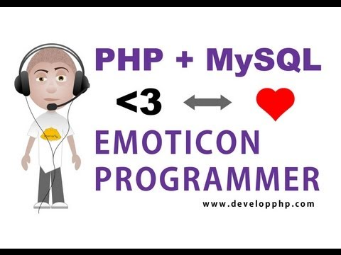 PHP replace characters with icons emoticons tutorial