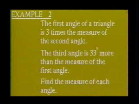 Triangle Practice Solutions